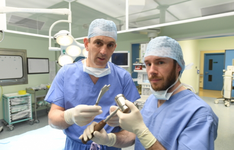 42 From left Mr John Rice, consultant orthopaedic surgeon at Bon Secours Hospital Tralee and Dr. Daniel Riordan, Lero researcher at IT Tralee. Photo Domnick Walsh.