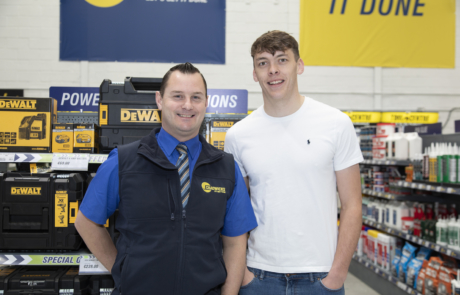 Branch Manager Jerry Lynch and GAA Star David Clifford